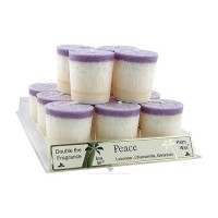 Aloha Bay palm Wax Peace Votive Candle - 2 oz, 12 pack