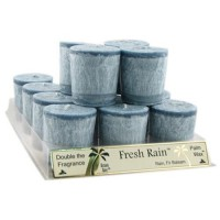 Aloha bay palm wax votive candle, fresh rain - 2 oz, 12 pack