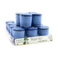 Aloha bay votives night sky candle, navy blue - 2 oz, 12 pack