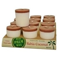 Aloha bay perfume blend votive candle, bahia coconut  -  2 Oz, 12 pack