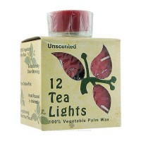 Aloha Bay Unscented Tea Light Red Candles With Glass - 0.7 oz
