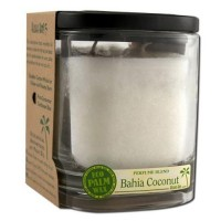 Aloha Bay Eco Palm Square Jar Candles, Bahia Coconut White - 8 Oz