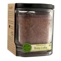 Aloha Bay Eco Palm Square Jar Candles, Kona Coffee Brown - 8 Oz