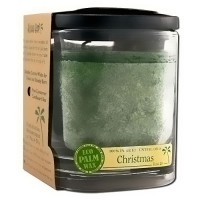 Aloha Bay Eco Palm Square Jar candles, Christmas Green - 8 oz