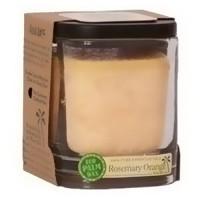 Aloha Bay Eco Palm Square Jar candles, Rosemary Orange Peach - 8 oz