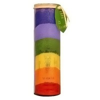 Aloha Bay Sri Yantra Rainbow Chakra jar Candle, Unscented - 16 oz