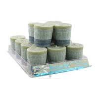 Aloha Bay Palm Wax Mountain Mist Votive Candle - 2 oz, 12 pack