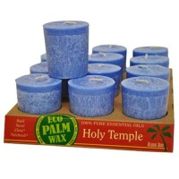 Aloha bay eco palm wax holy temple votive candles - 1 ea ,12 pack