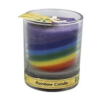 Aloha Bay Eco Palm Wax Rainbow Votive Candle Jar, Unscented - 2.5 oz, 12 pack