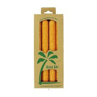Aloha Bay Palm Tapers 9 inches Orange Candles, Unscented, 4 ea