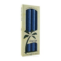 Aloha Bay Palm Tapers 9 inches Unscented Royal Blue Candles - 4 ea
