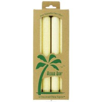 Aloha Bay Cream Palm Tapers 9 inches Unscented Candles - 4 ea, 3 Pack