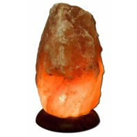 Himalayan salt lamp 12 inch Wood Base by aloha bay - 1 ea