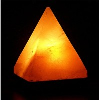Himalayan salt pyramid lamp by aloha bay -  1 ea