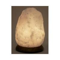 Himalayan salt lamp  white  8 inch by aloha bay  -  1 ea