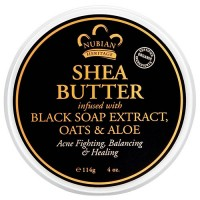 Nubian Heritage Shea Butter Infused With Black Soap Extract, Oats and Aloe - 4 oz