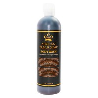 Nubian Heritage African Black Soap, Body wash - 13 oz