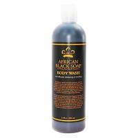 Nubian Heritage African Black Soap, Body wash - 13 oz