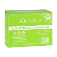 Olivella Exfoliating Face And Body Bar Soap With 100% Virgin Olive Oil - 5.29 Oz