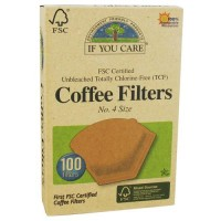 If you care unbleached totally chlorine-free, coffee filters cone style - 100 ea,  12pack