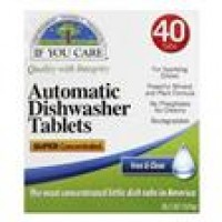 If You Care Super Concentrated Free and Clear Automatic Dishwasher Tablets - 40 ea, 1 pack