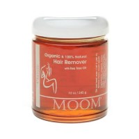 Moom organic hair removal with tea tree refill jar - 12 oz