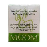 Moom hair removal accessories fabric strips - 48 ea