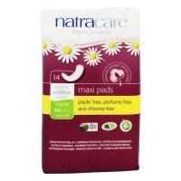 Natracare organic cotton natural feminine maxi padsregular - 14 pad(s)