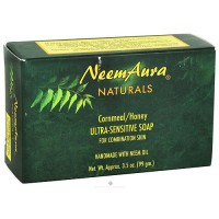 Neem Aura Naturals Ultra-Sensitive Soap, Cornmeal/Honey - 3.5 oz