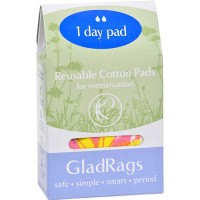 Gladrags color cotton day pad - 1 ea