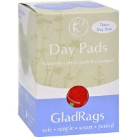 Glad rags reusable cotton day pads, regular - 3 ea