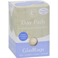 Glad rags cotton day pads, regular - 3 ea