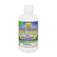 Dynamic Health Noni juice 100% pure organic from tahiti morinda citrifolia, Raspberry, 32 oz