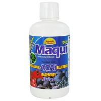 Maqui Plus juice blend fortified with pomegranate acai blueberry and raspberry - 32 oz