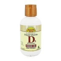 Dynamic Health liquid vitamin D3 5000 IU high potency Cherry flavor - 16 oz