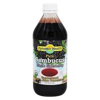 Dynamic health organic sambucus black elderberry juice concentrate - 16 oz