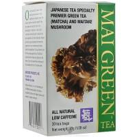 Mushroom Wisdom Mai Green Tea Bags - 20 ea