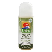 Lafes Natural and Organic Deodorant Roll On, Tea Tree - 3 oz