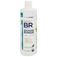Essential Oxygen Organic Brushing Rinse, Peppermint - 16 oz