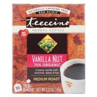 Teeccino - chicory herbal tea 75% organic vanilla nut - 10 tea bags, 6 pack