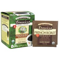 Teeccino herbal coffee organic french roast, dark roast - 10 tea bags,  6pack