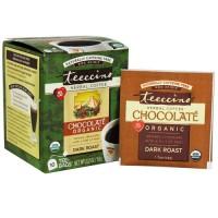Teeccino herbal coffee chocolate organic, dark roast - 10 tea bags,  6pack