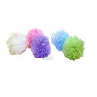 Luxury net bath sponge, assorted colors - 6 ea