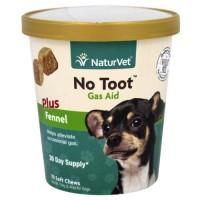 Naturvet - no toot gas aid plus fennel - 70 soft chews