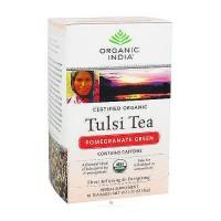 Organic India pomegranate green tulsi tea bags, Caffeine-Free - 18 ea, 6 pack