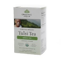 Organic India Tulsi Herbal Supplement Green Tea Bags - 18 ea, 6 pack