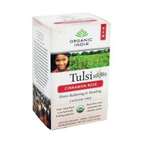 Organic india herbal supplement tulsi tea bags, cinnamon rose  -  18 ea ,6 pack