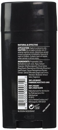 Natural for her by herban cowboy deodorant blossom - 2.8 oz