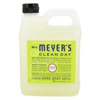 Mrs. Meyers clean day liquid hand soap refill, lemon verbena  -  33 Oz, 6pack