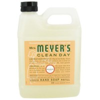Mrs. Meyers clean day liquid hand soap refill, geranium  -  33 Oz, 6pack